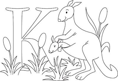 Gambar mewarnai kanguru