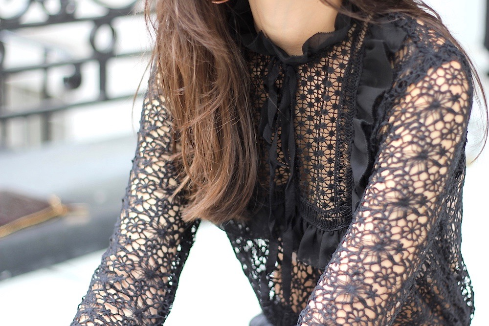 peexo rare london black lace top