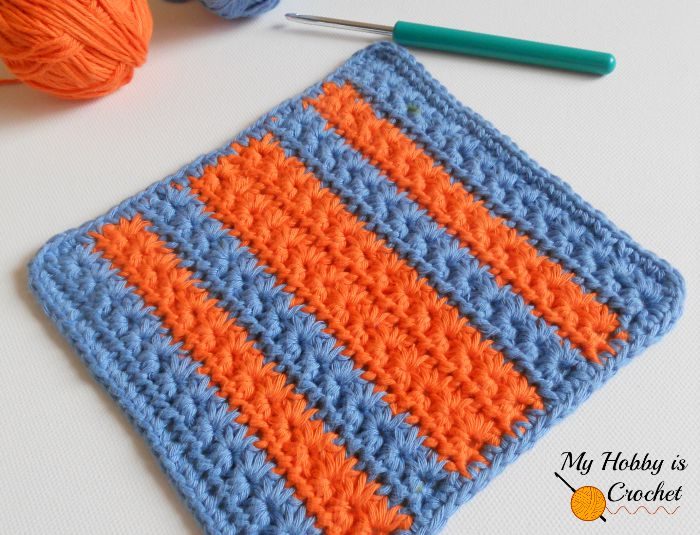 Star Stitch Dishcloth – Free Crochet Pattern with Tutorial