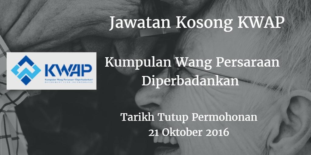 Jawatan Kosong KWAP 21 Oktober 2016