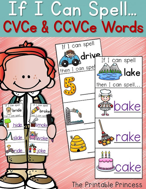If your Kindergarten or 1st grade students are in dire need of some CVC practice, this is for you! Let them see how changing one letter in a word can build an entirely new word! Your students literacy skills with soar with this quick, easy to prep activity! It will help your students read, build, and write CVC words. It's also great for rhyming words!  {CVCE and CCVE words are also available!}