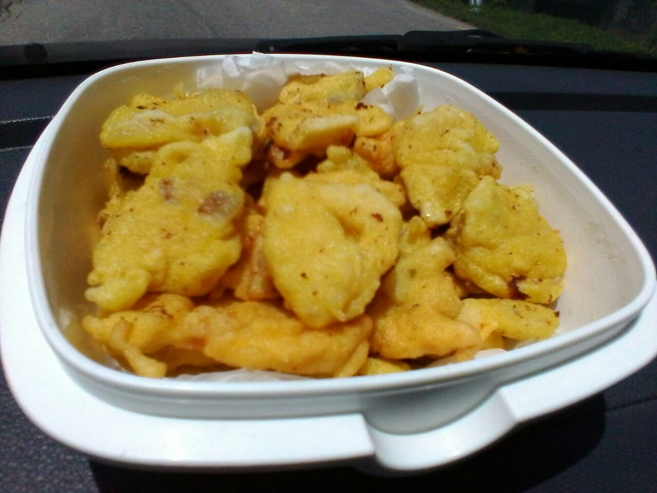 resepi cekodok seafood, cucur mudah dan simple, minum petang