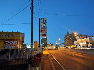 まだ早朝で薄暗い戸塚中継所