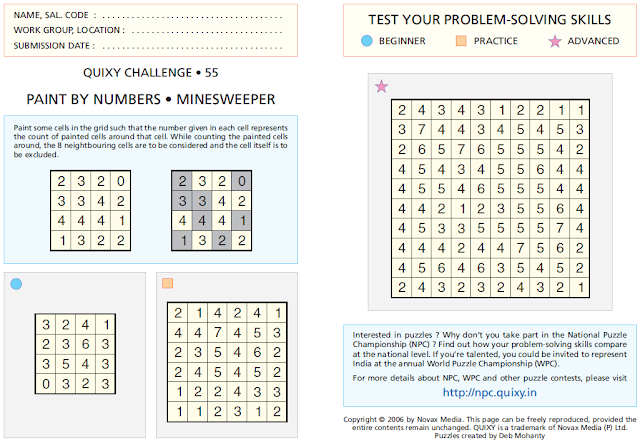 PAINT BY NUMBERS • MINESWEEPER Puzzles