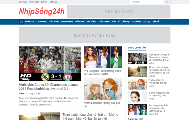 News Magazine Blogger Template