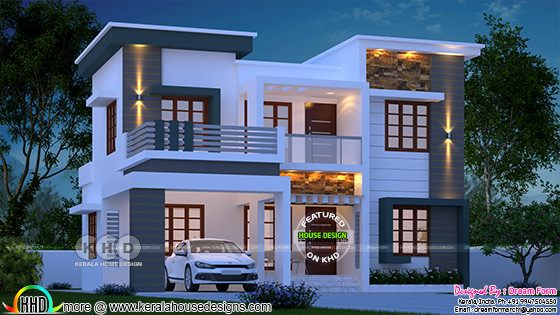 1780 square feet 4 bedroom modern home in Kerala