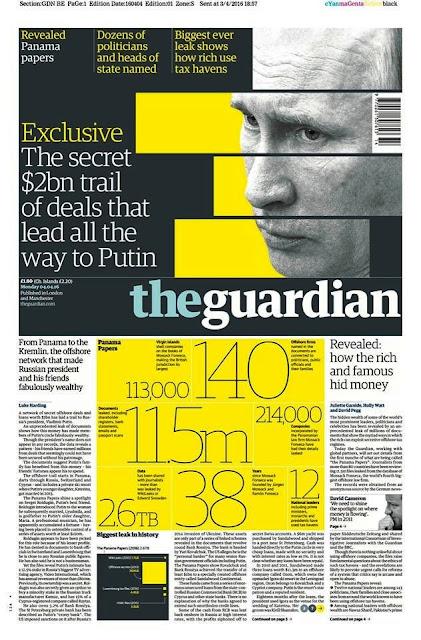 Aunque, a diferencia de otros líderes mundiales, el nombre de Vladímir Putin no aparece en los documentos filtrados, numerosos medios occidentales abordan el escándalo centrando la atención en el presidente ruso.