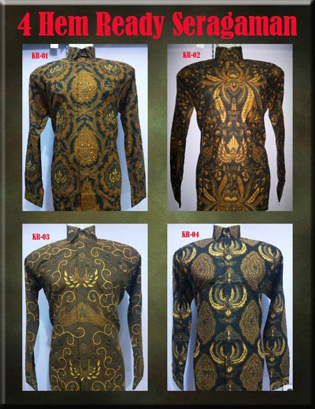 Batik Pria Lengan Panjang Ready Stok