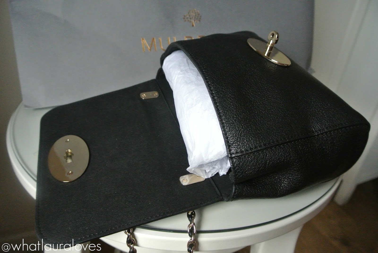 Mulberry Lily Review Black Glossy Goat Soft Gold Hardware Regular Original Size