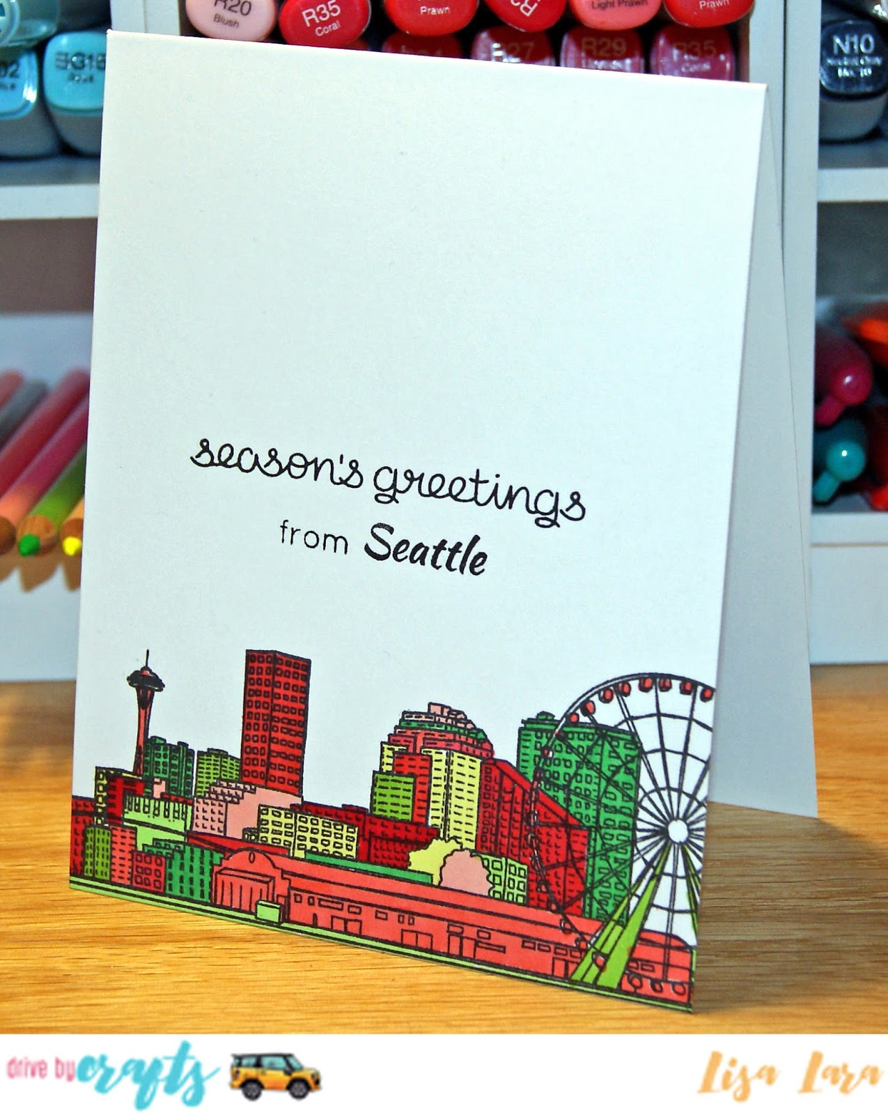 Drive by crafts seattle seasons greetings hello lisa here today with some seasons greetings from seattle kristyandbryce Images