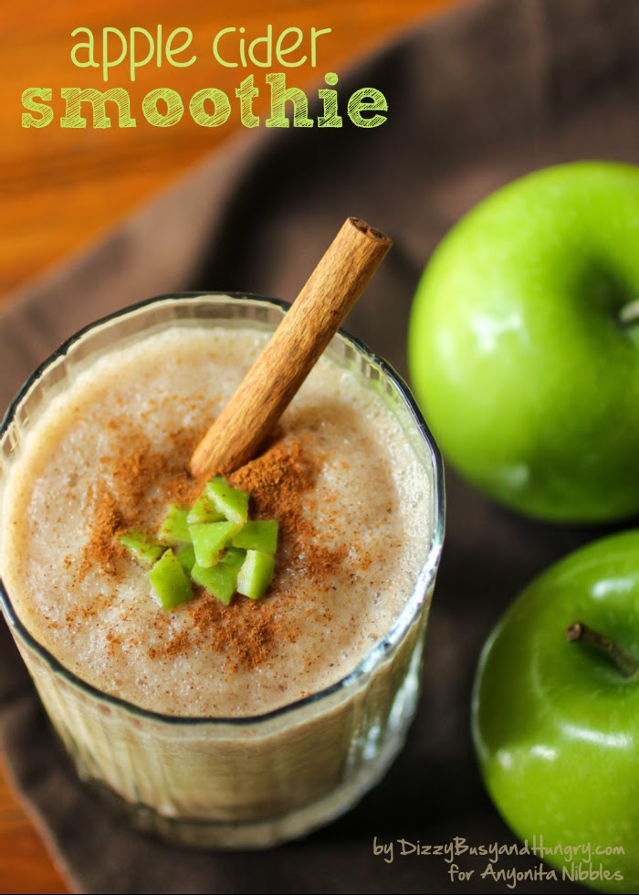 Luscious and seasonal Apple Cider Smoothie from Dizzy, Busy & Hungry for Anyonita-nibbles.co.uk