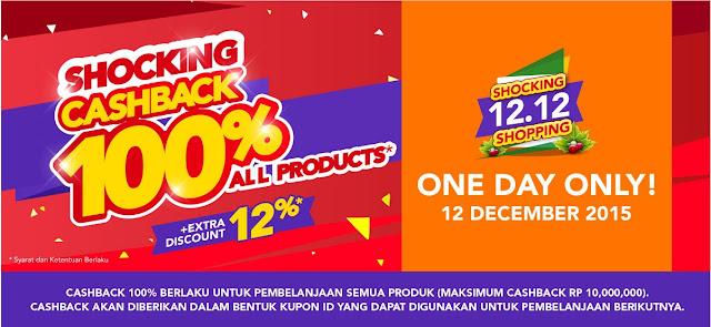 Belanja Sekarang 12-12 di Blibli.com Tinggal Menunggu Kupon Cashback 100%