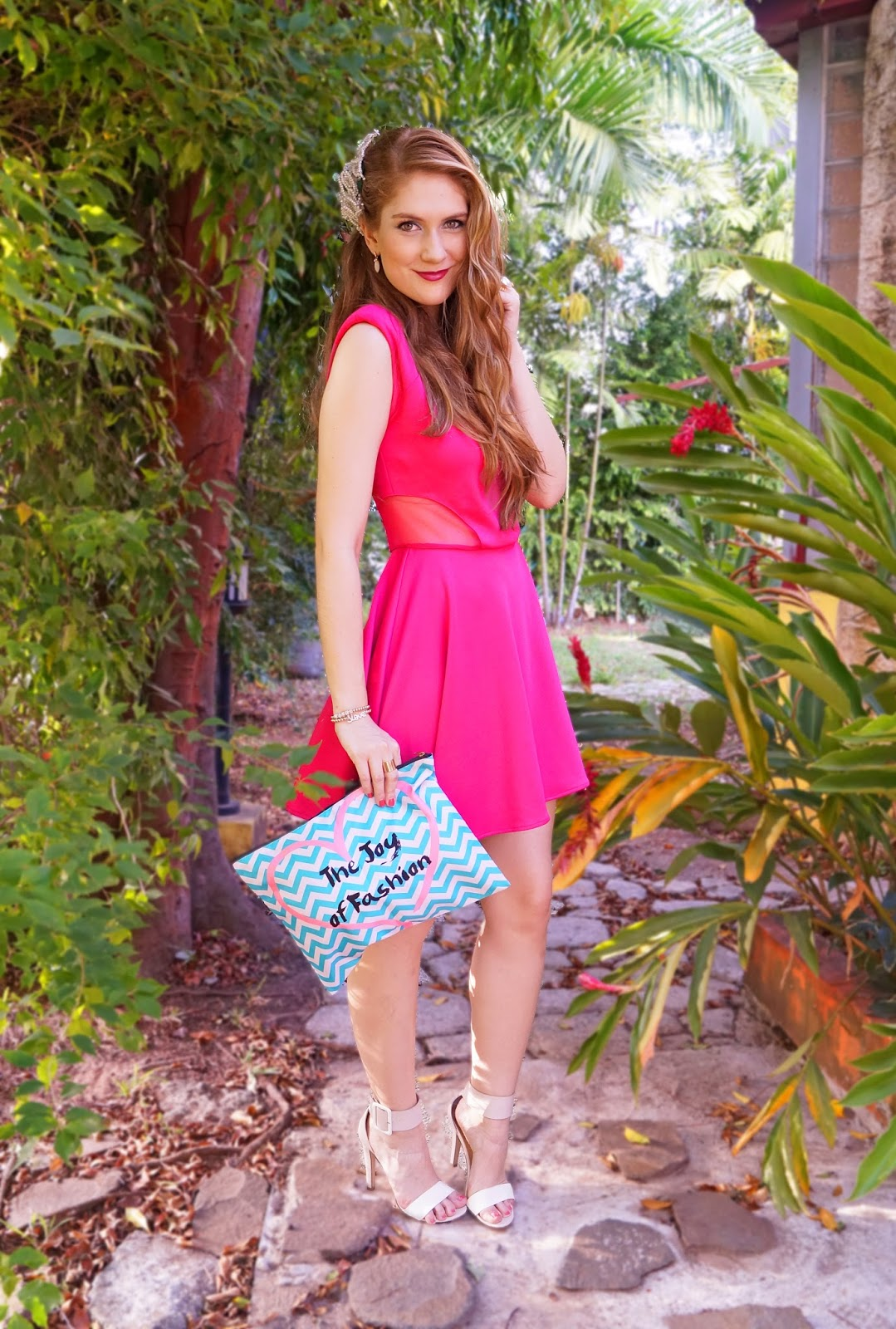 Girly Outfit in Pink and Aqua