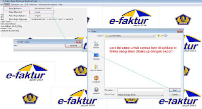 cara backup data e-faktur, pajak keluaran