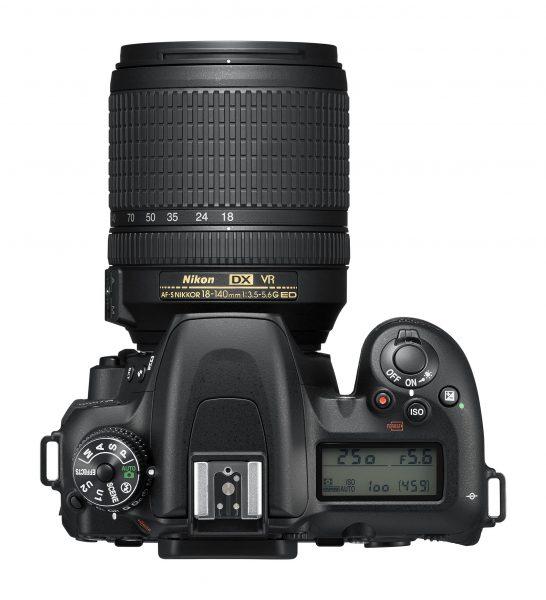 Nikon D7500, вид сверху