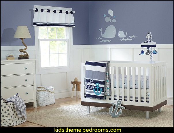 whales Just Born Crib Bedding Set, High Seas