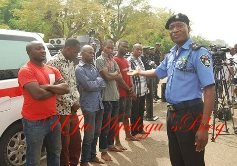 Police Parade LG Boss, Others Over Assassination Attempt on Senator Dino Melaye (Photos)