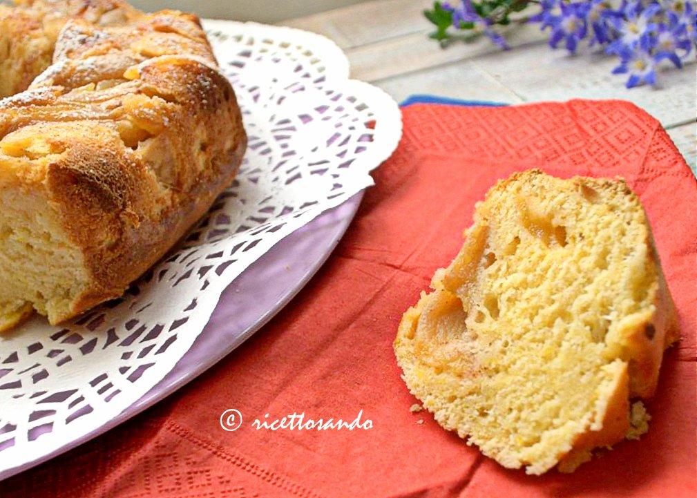 Ciambella soffice alla ricotta e mele ricetta torta dolce