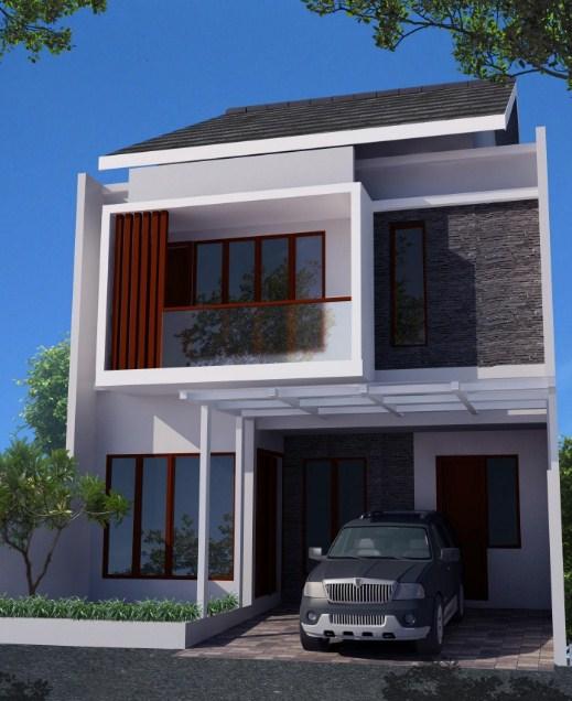 desain rumah kecil 2 lantai minimalis