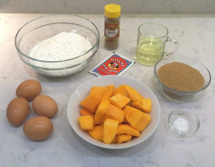 Ingredientes bizcocho de calabaza