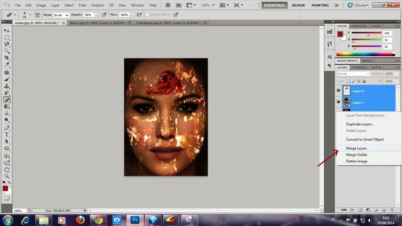 Cara Membuat efek kulit terbakar dan mengelupas dengan Photoshop