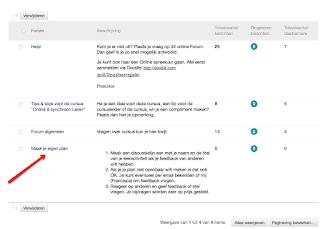 Vragen van deelnemers worden gesteld en behandeld in de chat van Blackboard