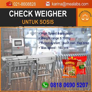Checkweigher untuk Sosis