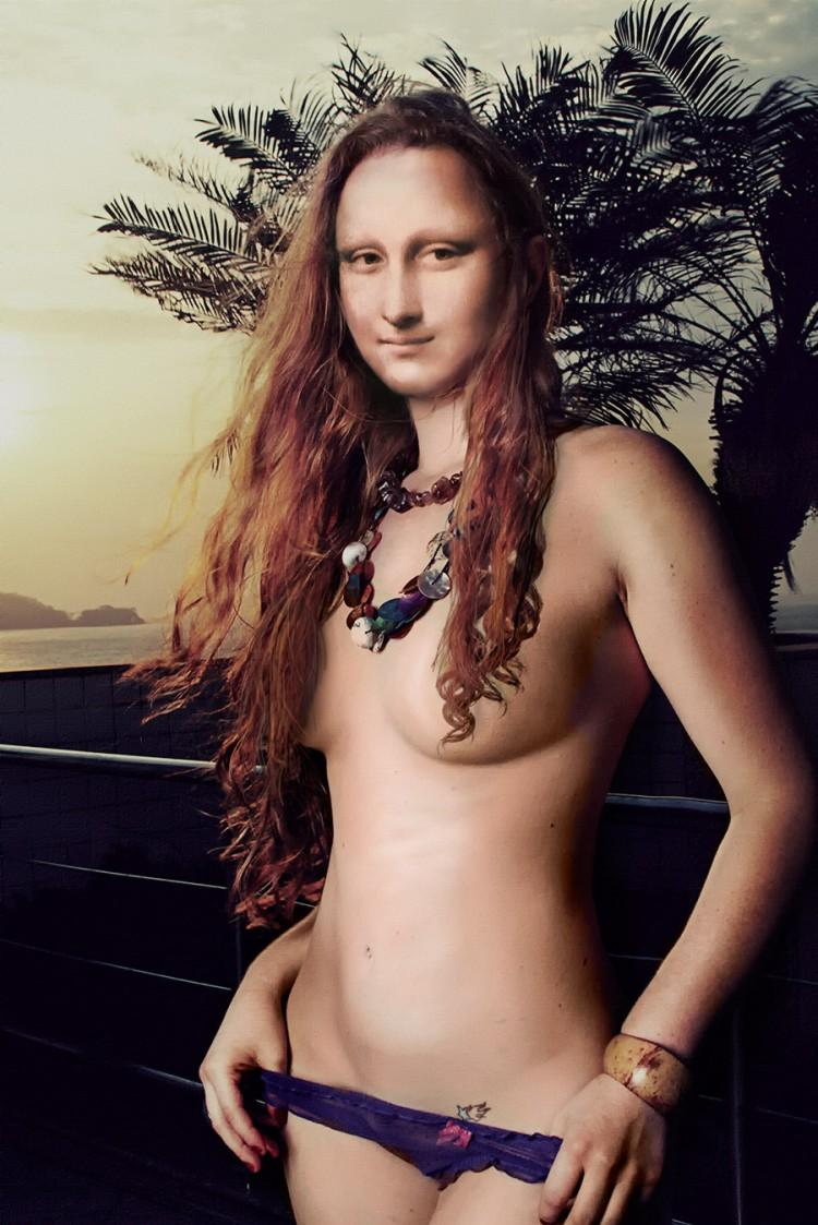 Mona Lisa In Different Styles  Body Painting2014CarsHot