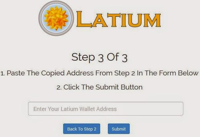latium coin wallet
