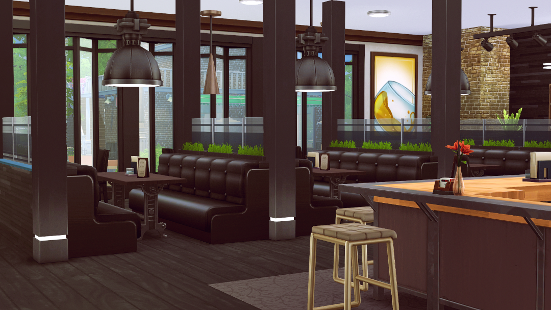 My sims nine east eatery bar no cc by jenba