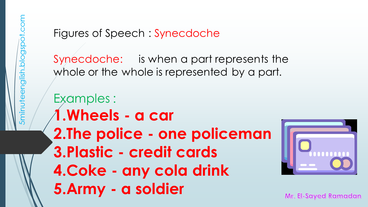 figures of speech synecdoche