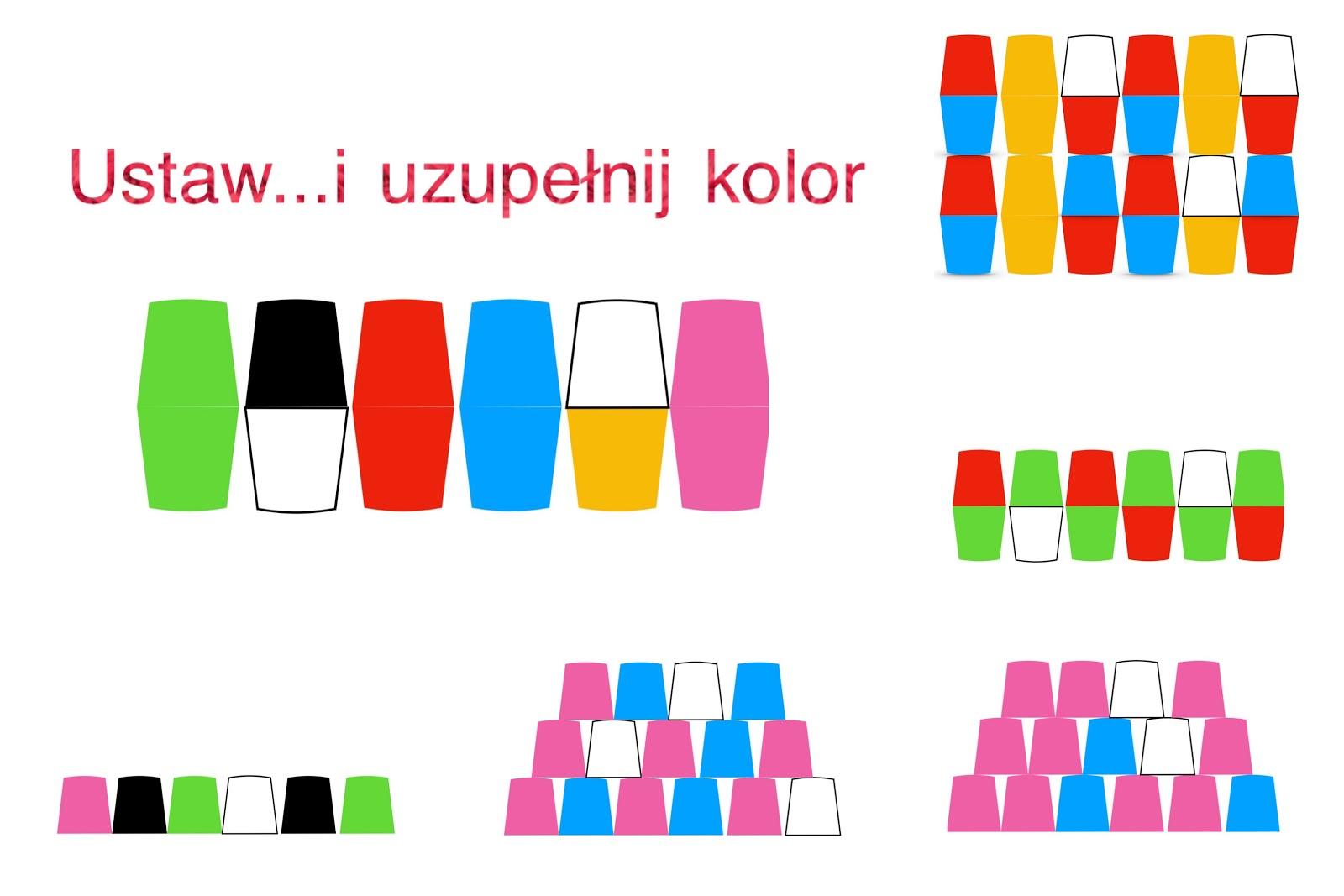 Ustaw Kubkiuzupełnij Kolor Kodowanie Na Dywanie