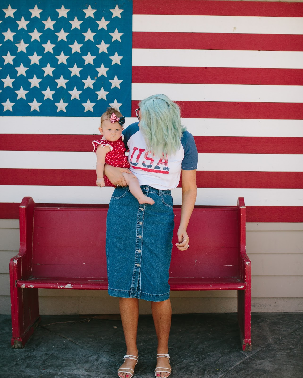 USA, Patriotic Outfits, Jean Skirt