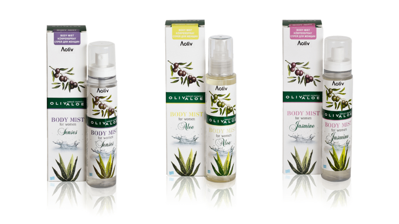 Spray de corp pentru femei OlivAloe: Senses, Aloe, Jasmine