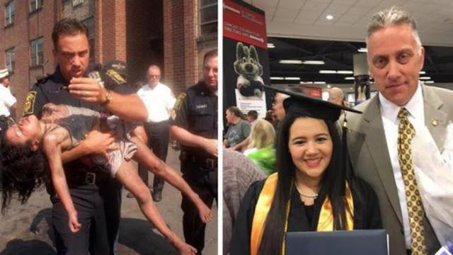 Την έβγαλε από τις φλόγες και 20 χρόνια μετά πήγε στην αποφοίτηση της