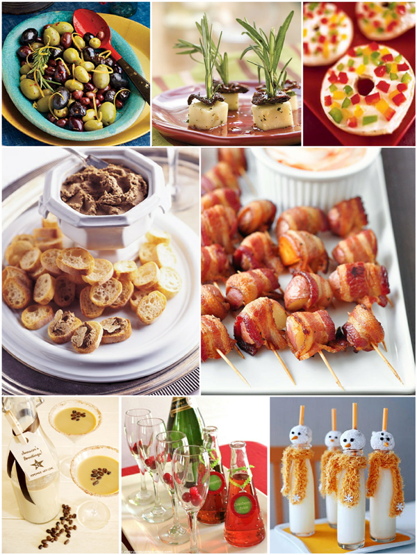 Christmas Party Easy Appetizers and Holiday Cocktails - via BirdsParty.com