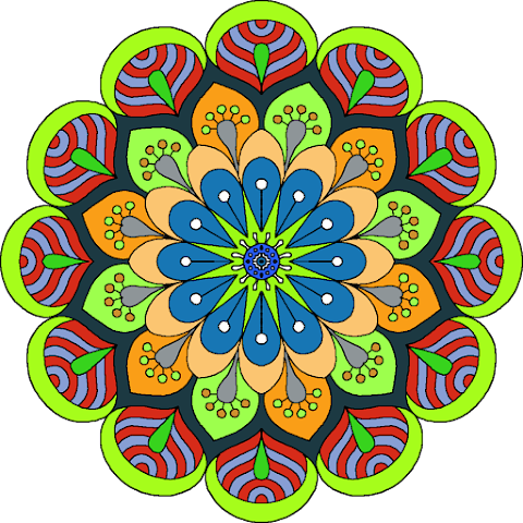 Vector Flower Art Textile Design 2346