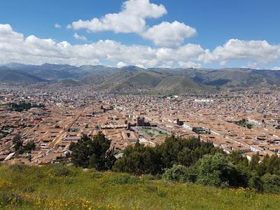 Vistas de Cuzco desde la fortaleza de Sacsayhuamán