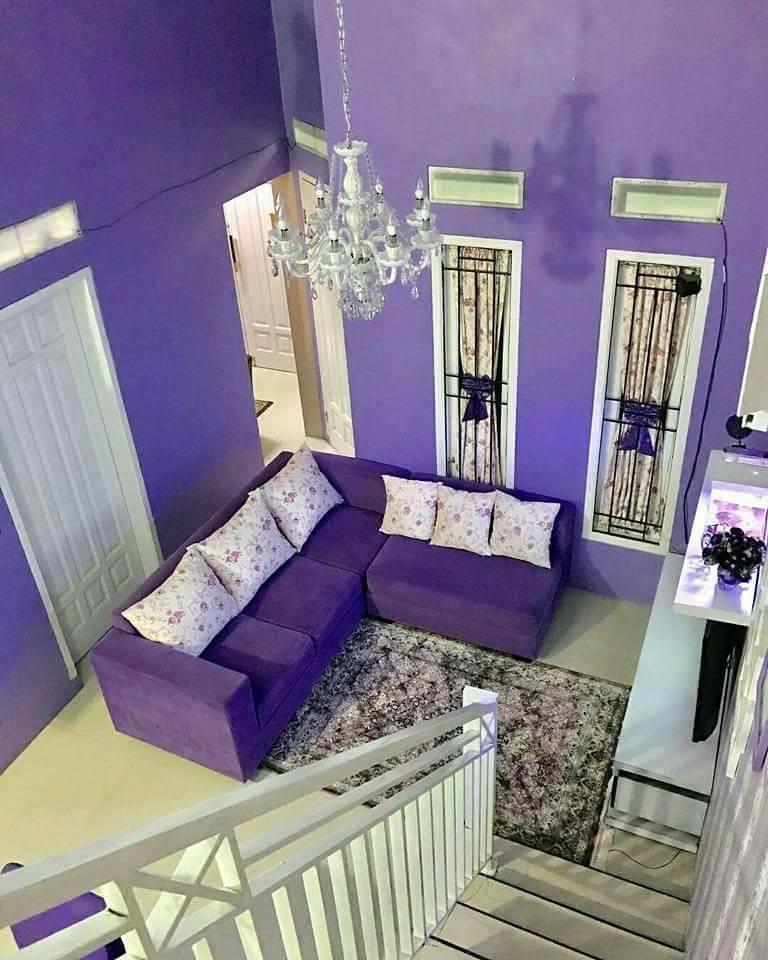 Rumah Minimalis Lantai 2 Nuansa Ungu  cat rumah minimalis warna ungu