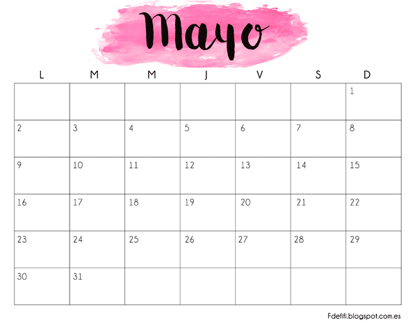 Calendario 2016 para imprimir facilisimocom calendario for Almanaque bristol 2016