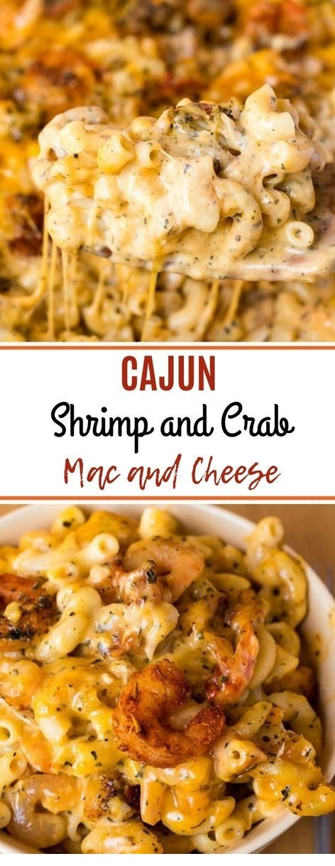 Cajun Shrimp and Crab Mac and Cheese