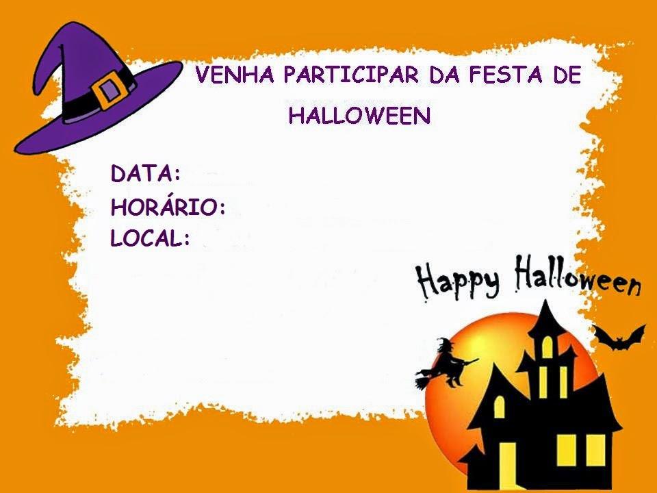 Bau Da Web Festa Dia Das Bruxas Convites Imprimir