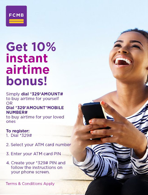How to Get Instant 10% Airtime Bonus on Every Recharge via FCMB