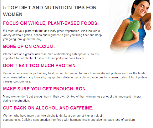 Diet and Nutrition tips