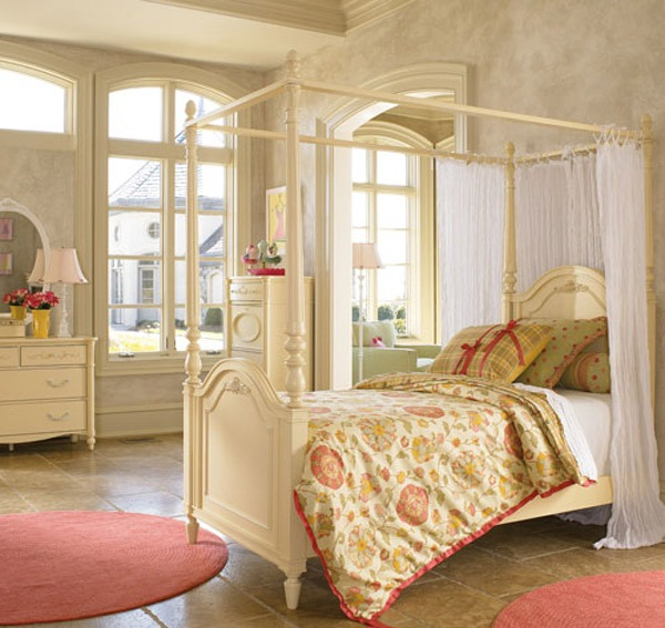 Dreamy and Romantic Full Draped Canopy Beds 5