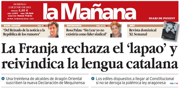 La franja rechaza el lapao y reivindica la lengua catalana