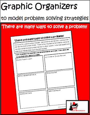 Free graphic organizer for problem solving which allows students to use multiple problem solving strategies with the same problem - free download from Raki's Rad Resources.