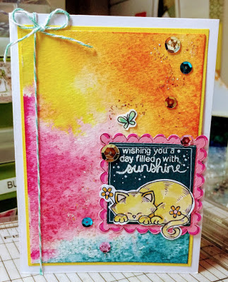 Wishing you a day by Sharon features Newton's Day Dream by Newton's Nook Design, #newtonsnook