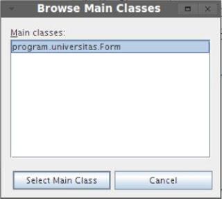 Kelas Informatika - Kotak Dialog Memilih Main Class