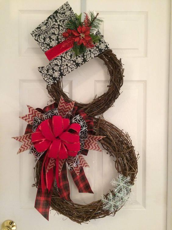 Haz espectaculares adornos de mu ecos de nieve para la - Adornos de navidad para las puertas ...